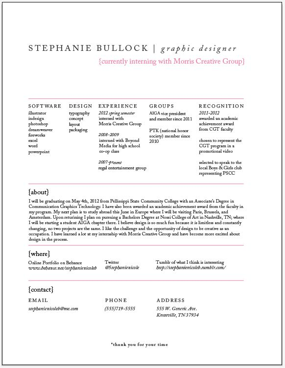 Real Graphic Design Resume