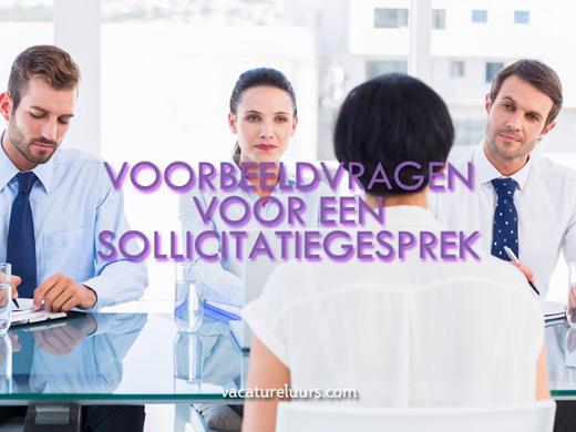 Voorbeeldvragen voor een sollicitatiegesprek